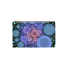 An Abstract Background Consisting Of Pastel Colored Circle Cosmetic Bag (small)  by Simbadda
