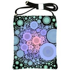 An Abstract Background Consisting Of Pastel Colored Circle Shoulder Sling Bags by Simbadda
