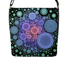 An Abstract Background Consisting Of Pastel Colored Circle Flap Messenger Bag (l)