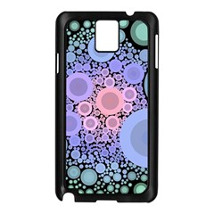 An Abstract Background Consisting Of Pastel Colored Circle Samsung Galaxy Note 3 N9005 Case (black) by Simbadda