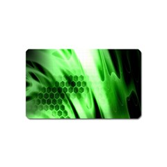 Abstract Background Green Magnet (name Card)