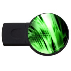 Abstract Background Green Usb Flash Drive Round (4 Gb) by Simbadda