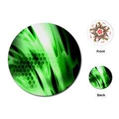 Abstract Background Green Playing Cards (round)  by Simbadda