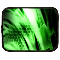 Abstract Background Green Netbook Case (xl)
