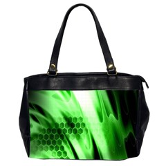 Abstract Background Green Office Handbags (2 Sides)  by Simbadda