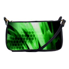 Abstract Background Green Shoulder Clutch Bags