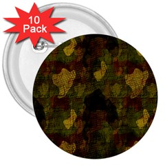 Textured Camo 3  Buttons (10 Pack)  by Simbadda