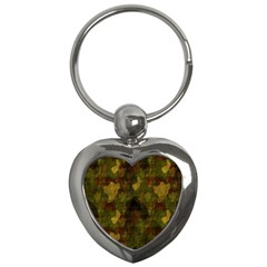 Textured Camo Key Chains (heart)