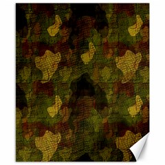 Textured Camo Canvas 8  X 10  by Simbadda