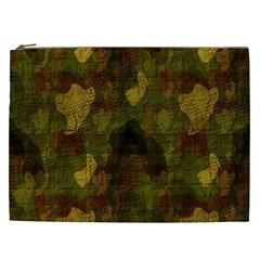 Textured Camo Cosmetic Bag (xxl)  by Simbadda