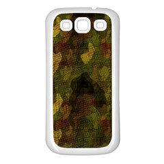Textured Camo Samsung Galaxy S3 Back Case (white)