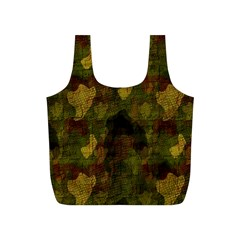 Textured Camo Full Print Recycle Bags (s)  by Simbadda