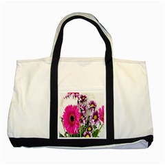 Purple White Flower Bouquet Two Tone Tote Bag by Simbadda