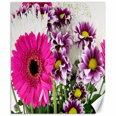 Purple White Flower Bouquet Canvas 8  X 10  by Simbadda