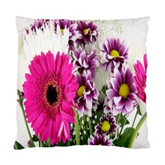 Purple White Flower Bouquet Standard Cushion Case (two Sides)