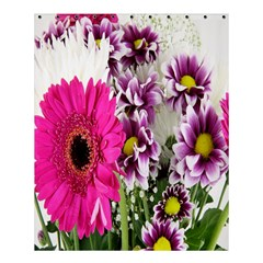 Purple White Flower Bouquet Shower Curtain 60  X 72  (medium)  by Simbadda