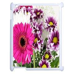 Purple White Flower Bouquet Apple Ipad 2 Case (white) by Simbadda