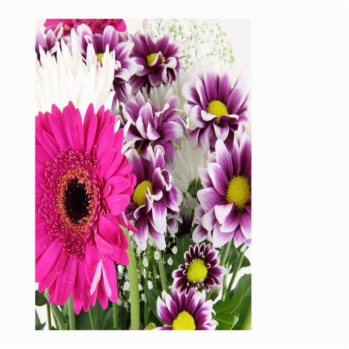 Purple White Flower Bouquet Small Garden Flag (Two Sides)