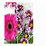 Purple White Flower Bouquet Small Garden Flag (Two Sides) Back