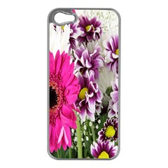 Purple White Flower Bouquet Apple Iphone 5 Case (silver)