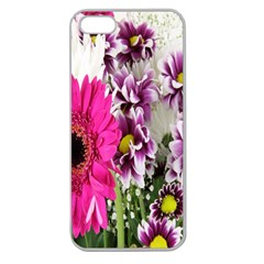 Purple White Flower Bouquet Apple Seamless Iphone 5 Case (clear) by Simbadda