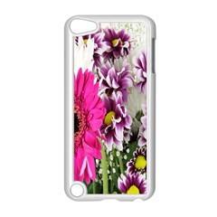 Purple White Flower Bouquet Apple Ipod Touch 5 Case (white) by Simbadda