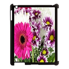 Purple White Flower Bouquet Apple Ipad 3/4 Case (black) by Simbadda