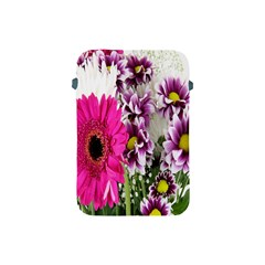 Purple White Flower Bouquet Apple Ipad Mini Protective Soft Cases by Simbadda