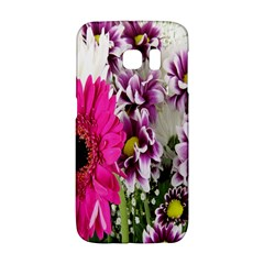 Purple White Flower Bouquet Galaxy S6 Edge by Simbadda