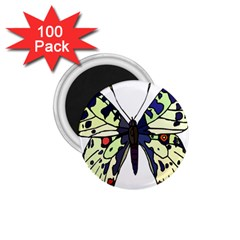 A Colorful Butterfly Image 1 75  Magnets (100 Pack)