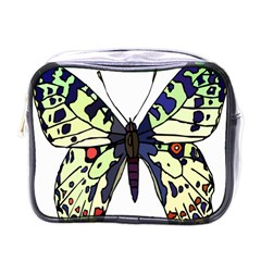 A Colorful Butterfly Image Mini Toiletries Bags by Simbadda