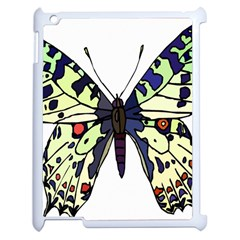 A Colorful Butterfly Image Apple Ipad 2 Case (white) by Simbadda