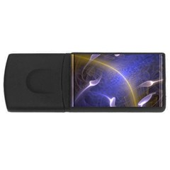 Fractal Magic Flames In 3d Glass Frame Usb Flash Drive Rectangular (4 Gb) by Simbadda