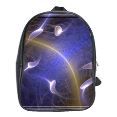 Fractal Magic Flames In 3d Glass Frame School Bags(large)  by Simbadda