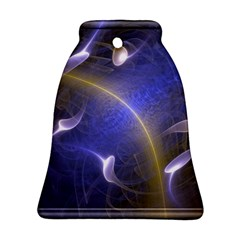 Fractal Magic Flames In 3d Glass Frame Bell Ornament (two Sides) by Simbadda