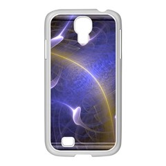 Fractal Magic Flames In 3d Glass Frame Samsung Galaxy S4 I9500/ I9505 Case (white) by Simbadda