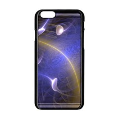 Fractal Magic Flames In 3d Glass Frame Apple Iphone 6/6s Black Enamel Case by Simbadda