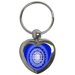 Abstract Background Blue Created With Layers Key Chains (heart)  by Simbadda