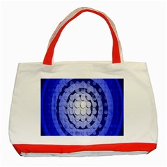 Abstract Background Blue Created With Layers Classic Tote Bag (red)