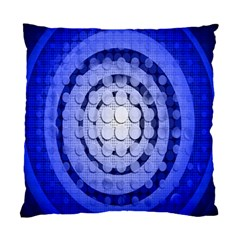 Abstract Background Blue Created With Layers Standard Cushion Case (one Side) by Simbadda