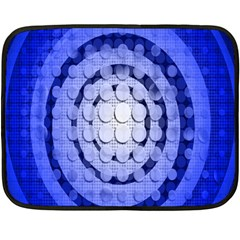 Abstract Background Blue Created With Layers Double Sided Fleece Blanket (mini)  by Simbadda