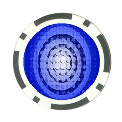 Abstract Background Blue Created With Layers Poker Chip Card Guard (10 Pack)