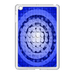 Abstract Background Blue Created With Layers Apple Ipad Mini Case (white)