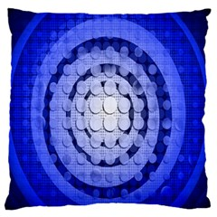 Abstract Background Blue Created With Layers Standard Flano Cushion Case (one Side) by Simbadda