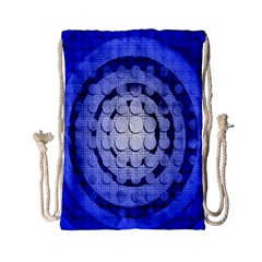 Abstract Background Blue Created With Layers Drawstring Bag (small) by Simbadda