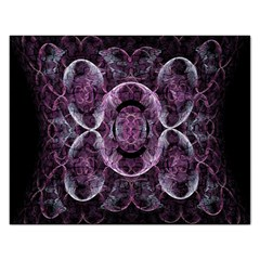 Fractal In Lovely Swirls Of Purple And Blue Rectangular Jigsaw Puzzl by Simbadda