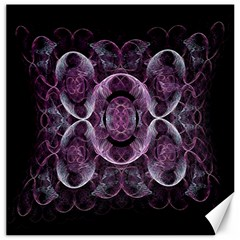 Fractal In Lovely Swirls Of Purple And Blue Canvas 12  X 12   by Simbadda