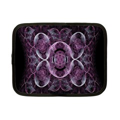 Fractal In Lovely Swirls Of Purple And Blue Netbook Case (small)  by Simbadda
