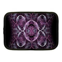 Fractal In Lovely Swirls Of Purple And Blue Netbook Case (medium)  by Simbadda