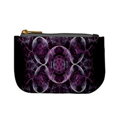 Fractal In Lovely Swirls Of Purple And Blue Mini Coin Purses